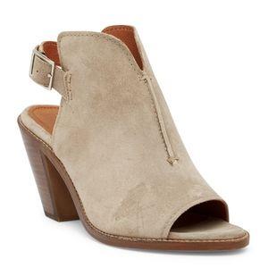 FRYE Courtney Leather Sling Back Block Heel Sandal